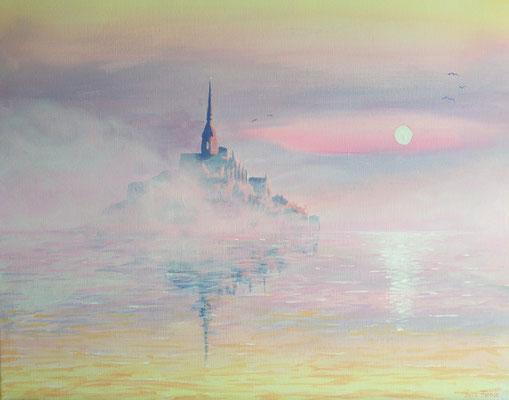 MONT SAINT MICHEL   | Acrylic on Canvas 50x40 cm |