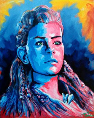 BLUE     Acrylic  on Canvas 40x50 cm  