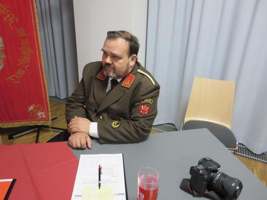 Manfred Liebentritt, Leiter des Sachgebietes Feuerwehrgeschichte im Landes-Feuerwehrverband Tirol
