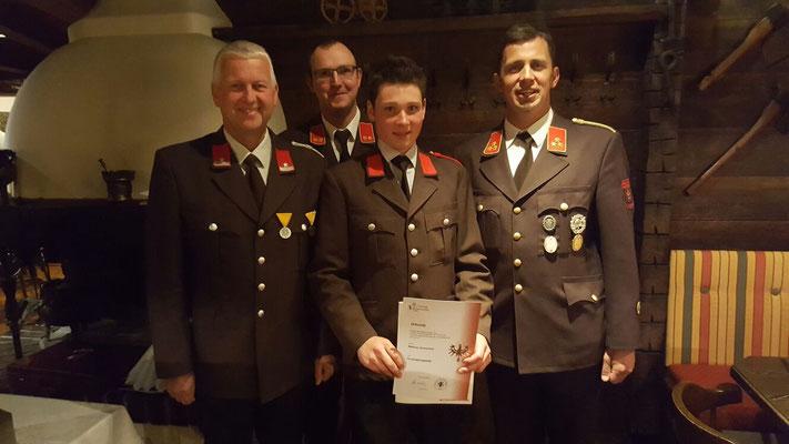 Vizebgm. Herbert Exenberger, Kdt.-Stellvertr. Anton Schlechter, FM Matthias Schwentner, Kommandant Andreas Paluc