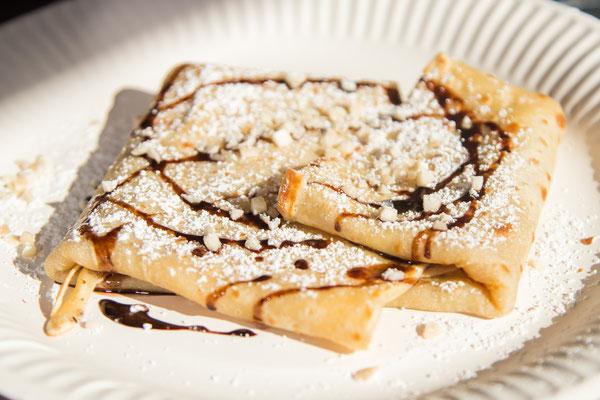 frischer Crepes mit Nutella
