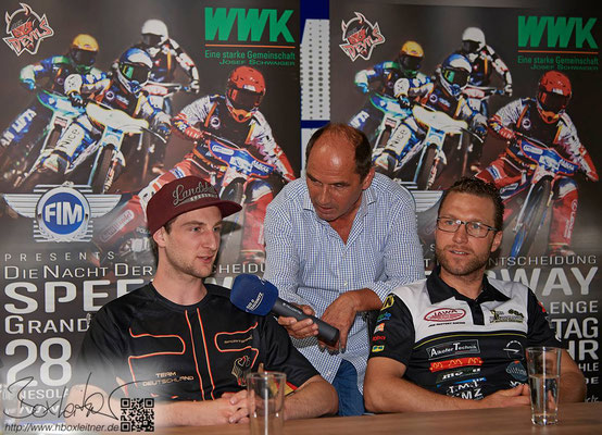 Valentin Grobauer und Martin Smolinski bei der Pressekonferenz