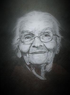 Oma mit Brille 50 x 65 cm 395.--€