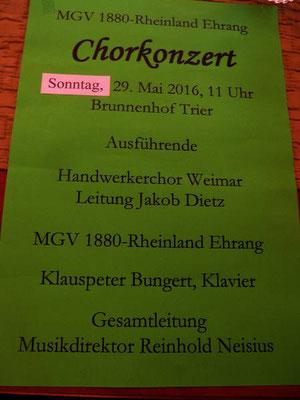 Der Männergesangsversein 1880-Rheinland Ehrang hatte zum gemeinsamen Konzert geladen