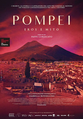 Cinema Le Grazie Bobbio novembre – serata evento Rassegna La Grande Arte al cinema 2020 POMPEI-EROS E MITO   lunedì 9 novembre: ore 21:15 #PompeiErosEMito