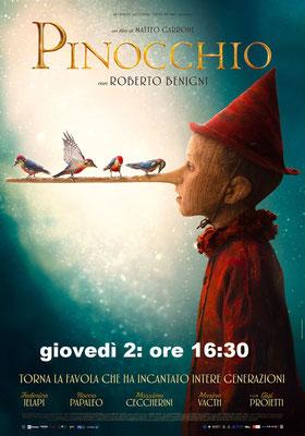 PINOCCHIO martedì 1: ore 21:15 giovedì 2: ore 16:30 #Pinocchio