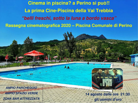 Piscina comunale Perino – Cinema sotto Le Stelle - agosto GLI UOMINI D'ORO venerdì 14 dalle ore 21:30