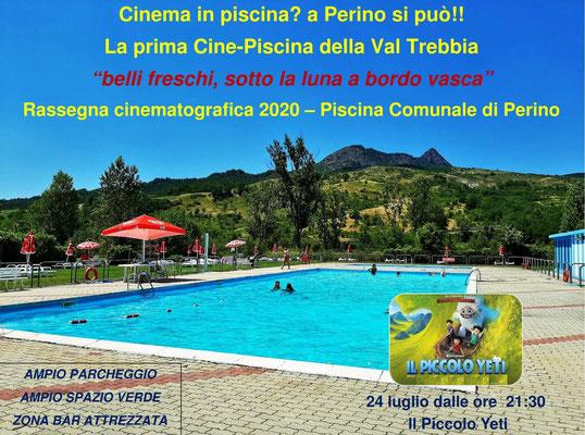 Piscina comunale Perino – Cinema sotto Le Stelle - luglio IL PICCOLO YETI venerdì 24 dalle ore 21:30