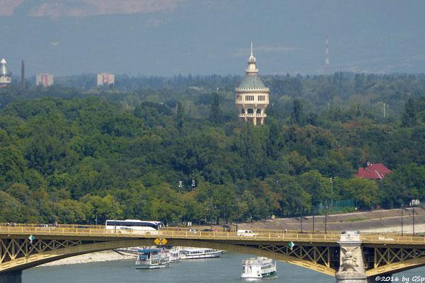 Margarethenbrücke und Margaretheninsel mit Wasserturm