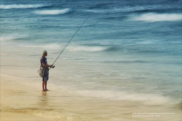 Pescando con seda