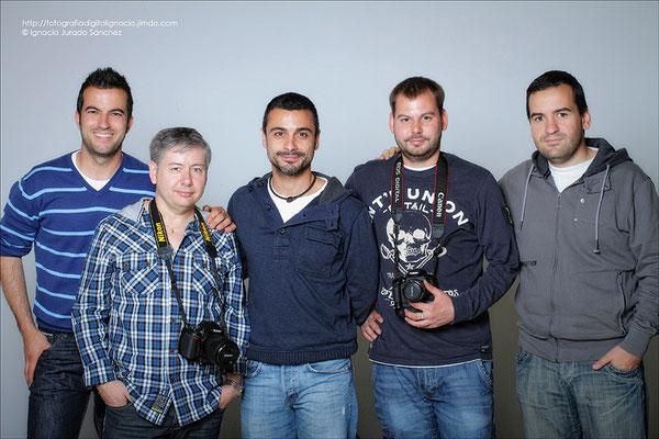 Fotode grupo de derecha a izquierda Jorge, Robe, Ricardo, Juan, e Ignacio.