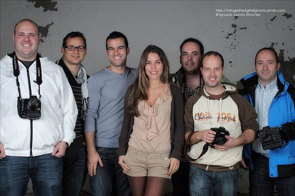 Foto de Grupo, Carlos, Manuel, Ignacio, Lucía, Jose Manuel, Jesús, e Israel.