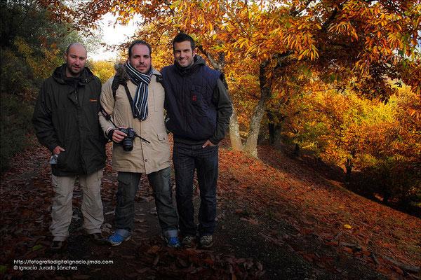 Foto de grupo Jose Luis, Jose Manuel e Ignacio.