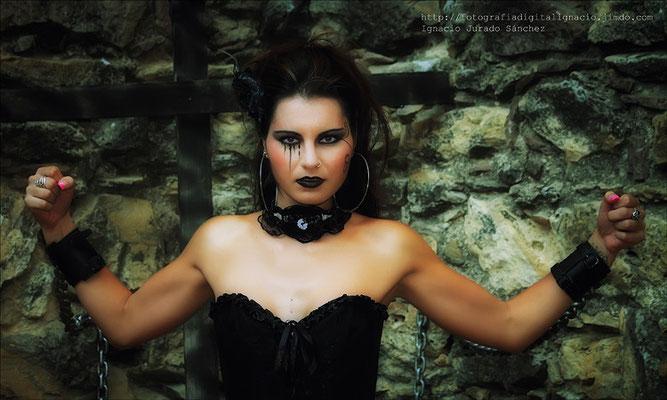 Natalia modelo en la KDD de Gotikas de A.F.A.