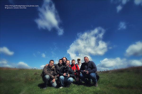 Foto de grupo ( Jorge, Ignacio, Carlos, Jesús, Robe, Jose María, Miguel Ángel)