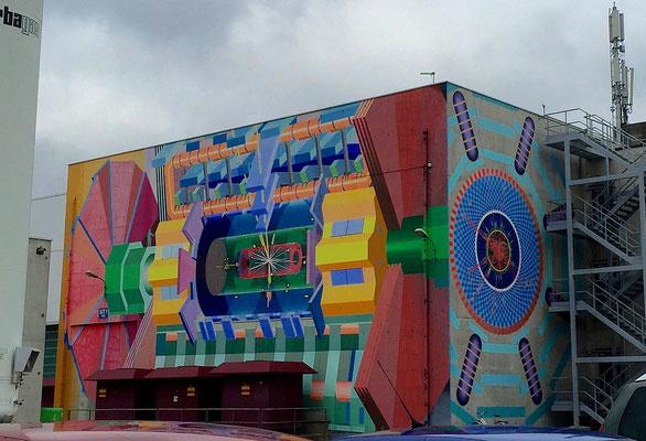 Building artwork at CERN