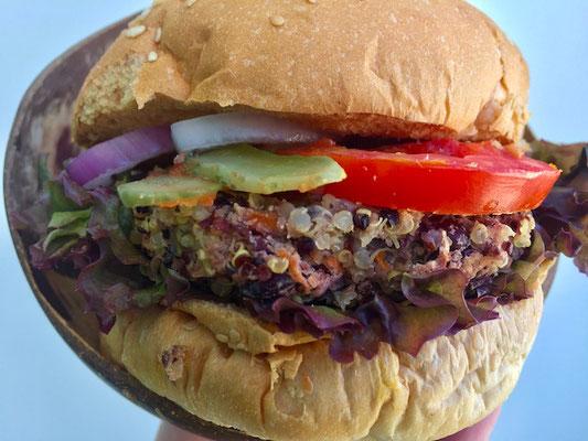 quinoa burger pranaa bangkok thailand