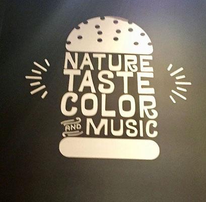 flower burger nature taste color and music