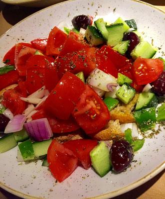 tomato cucumber salad namaste gialova greece