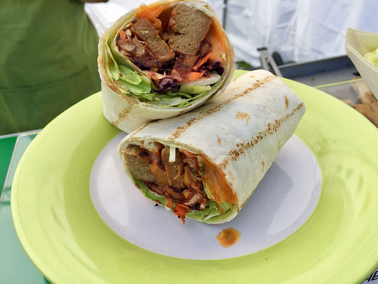 vegan chipotle chicken wrap from herbivorous