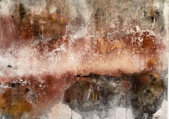 Ohne Titel     60 x 40 x 4             Sumpfkalk/ Marmormehl Mischung und Pigmente