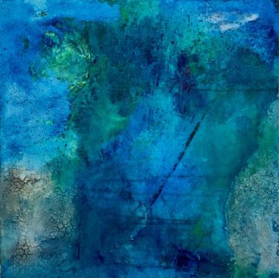 60 x 60 x 4   Into the Blue   Acryl