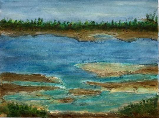 Aare Ufer 40 x 30 x 4