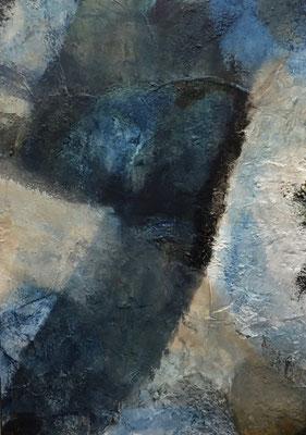 50 x 70 x 2     Blau Abstrakt