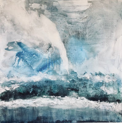 100 x 100 x 4    Die Welle   Acryl