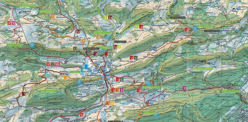 Rundwanderung Jura und 100 km Wanderwege ab Langenbruck