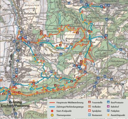 Waldwanderung im Naturpark Jura