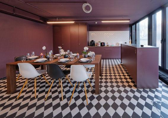 Die neue Schulküche der Klubschule Migros Luzern im 2. Stock oberhalb der Migros Schweizerhof Luzern