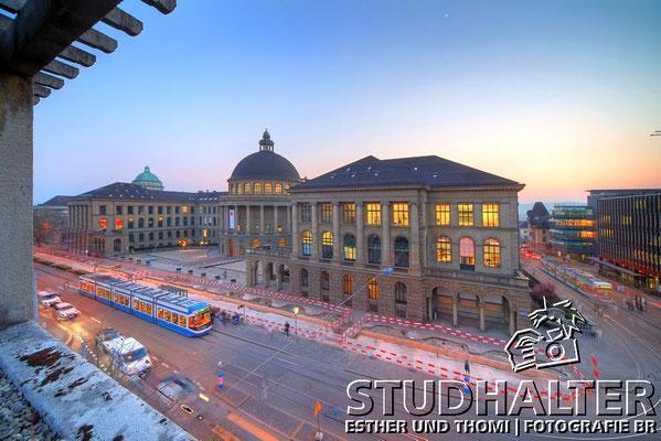 Fotos für Broschüren/Werbung/Web energo.ch by StockerDirect: Eidgenoessisch Technische Hochschule ETH Zürich. Hauptgebäude an der Rämistrasse Zürich. 2011