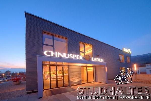"""Neuer Fabrikladen """"Chnuschper Laden"""" der HUG AG in Malters/LU 2011"""