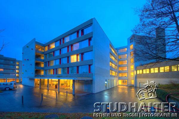 Nachtaufnahmen Betagtenzentrum Eichhof Luzern für Energo by Stockerdirect.ch. HDR-Fotografie.