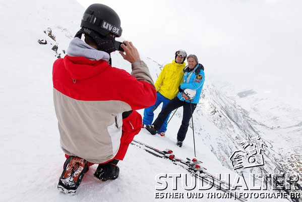 Bernhard Russi, Verwaltungsrat Andermatt Swiss Alps beim Skifahren auf Gurschen/Gemsstock.