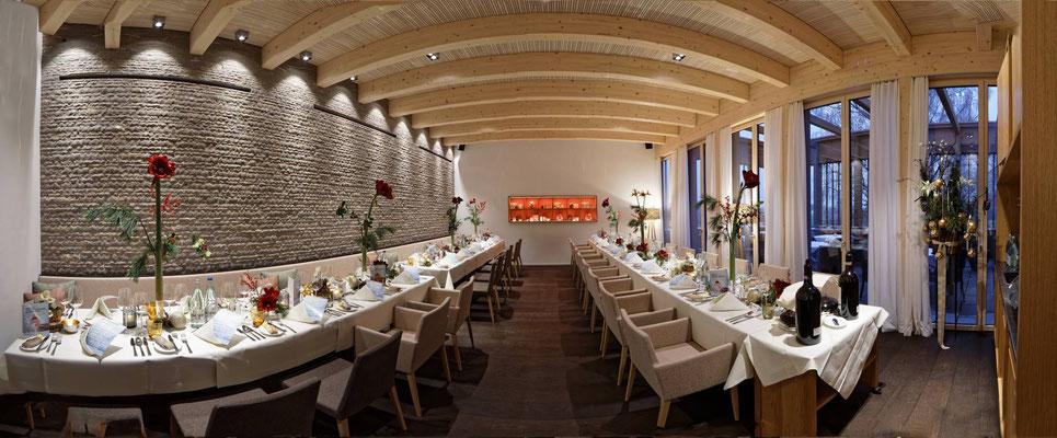 Das gemütliche Stübli im neu eröffneten Restaurant Albero Golfpark Holzhäusern