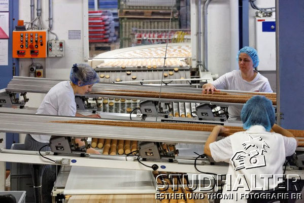 Produktion Choco-Biscuits WERNLI AG in Trimbach/SO 2012