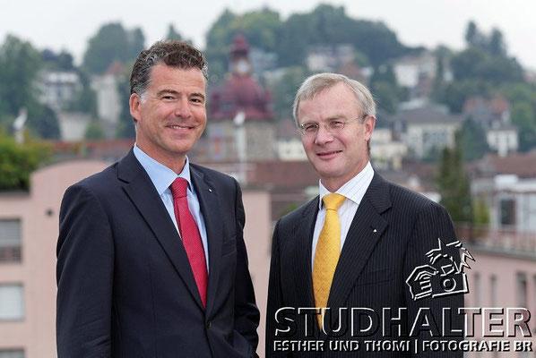 VRP + CEO: Mark Bachmann, Präsident des Verwaltungsrats VRP und Bernard Kobler, Präsident der Geschäftsleitung CEO. 2011