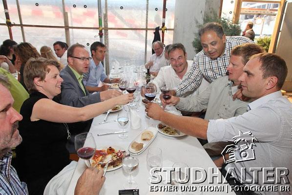 """Mitarbeiter-Anlass der Andermatt Swiss Alps AG mit Samih Sawiris und weiteren Gästen im """"The Chedi Hotel Andermatt"""". 6. Juli 2011"""