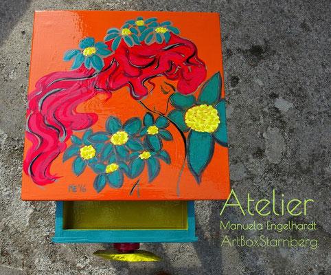 """Atelier Manuela Engelhardt - ArtBoxStarnberg - Mobiler Beistelltisch """"Spring"""""""