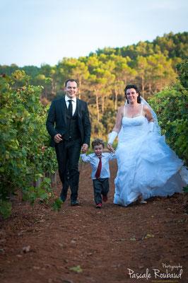 Mariage à Carces dans les vignes