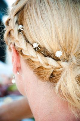 Photo mariage Antibes Juan les pins coiffure de la mariée
