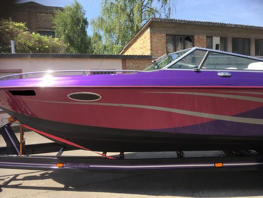 Motorboot polieren Versiegelung