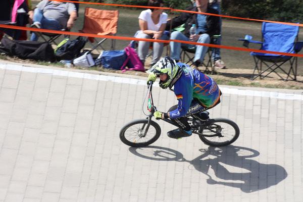 Jannik Koschan fuhr ein taktisch sehr gutes Rennen und wurde mit dem ersten Platz belohnt.