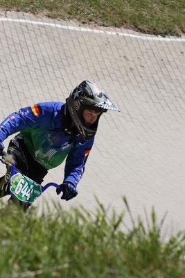 Keno Segger fuhr in Bispingen sein erstes BMX-Rennen.