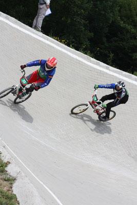 Pia Lichtenfeld (links im Bild) fuhr erst ihr zweites Rennen