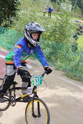 Timo Schüler startete ebenfalls zum ersten Mal bei einem BMX-Rennen