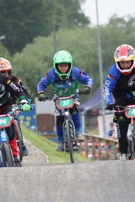 Patrice Rossow von den Phönix-Racern kam in seiner noch jungen BMX-Rennkarriere erstmals auf´s Siegerpodest