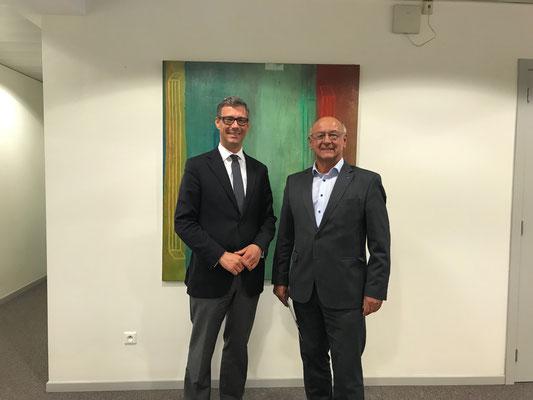 Bodo Lehmann (l.) und Hans Peter Heizmann
